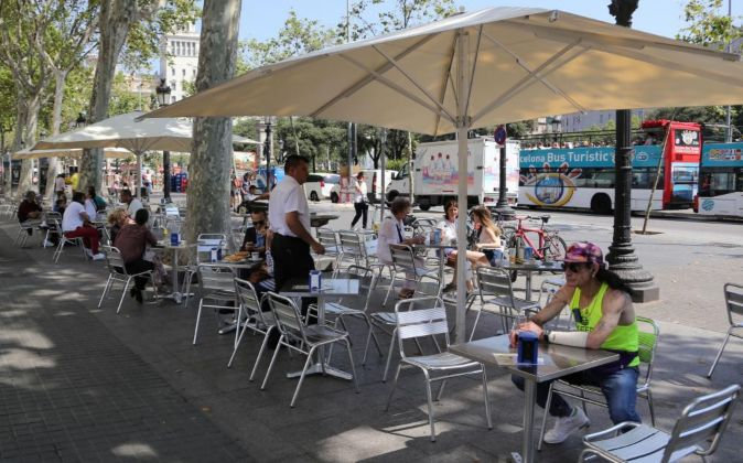 Terraza en Barcelona.