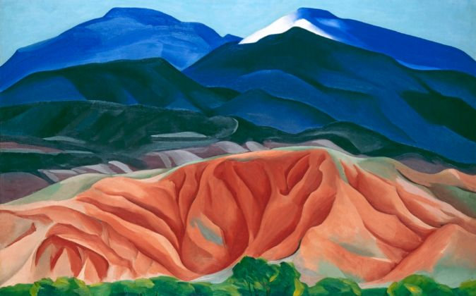 'Black Mesa Landscape, New Mexico', pintado en 1930.