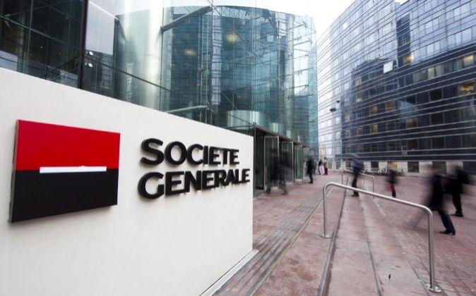 Edificio de Societé Générale en Puteaux, cerca de París (Francia).