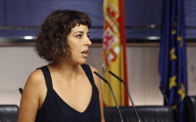 La diputada de En Marea-Podemos Alexandra Fernández