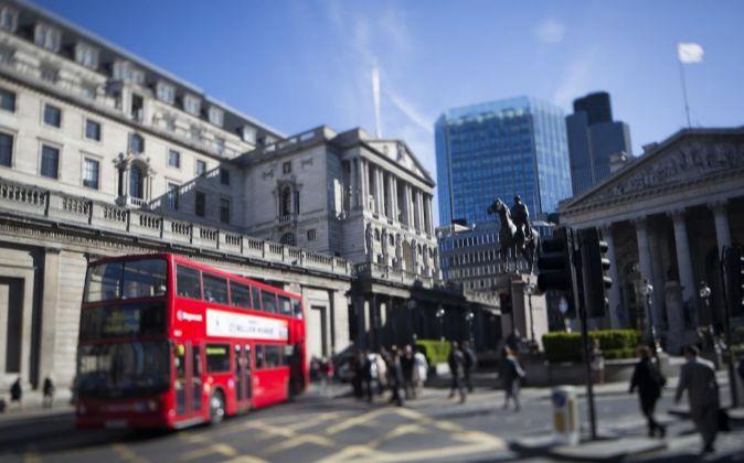Sede del Banco de Inglaterra en la City de Londres.