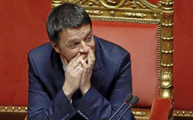Matteo Renzi durante una sesión en el Parlamento italiano.