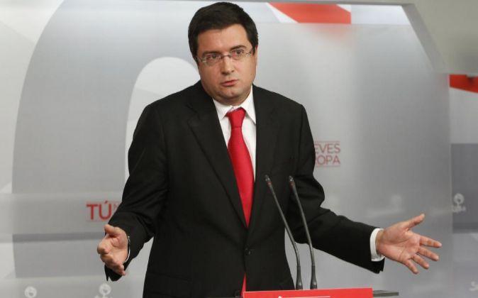 sultados Elecciones Europeas 2014, sede del PSOE, Foto: P. Davila. EN...