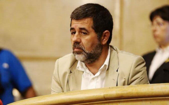 El presidente de la Asamblea Nacional Catalana (ANC) Jordi Sánchez.