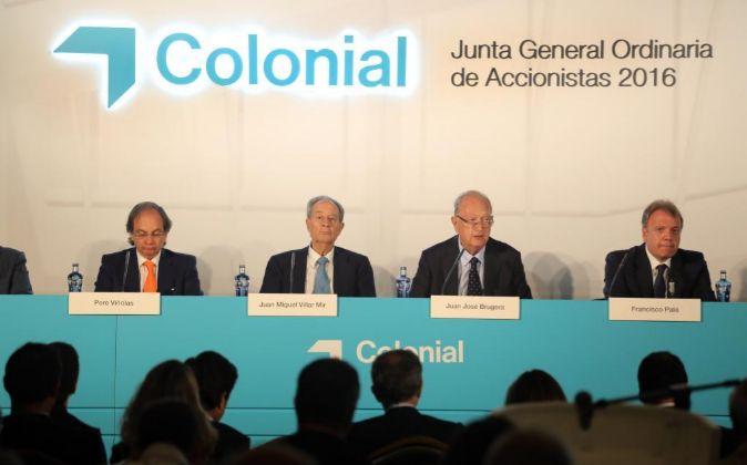 Imagen de la última junta de accionistas de Colonial