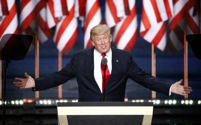 Donald Trump en la Convención Republicana de Cleveland.