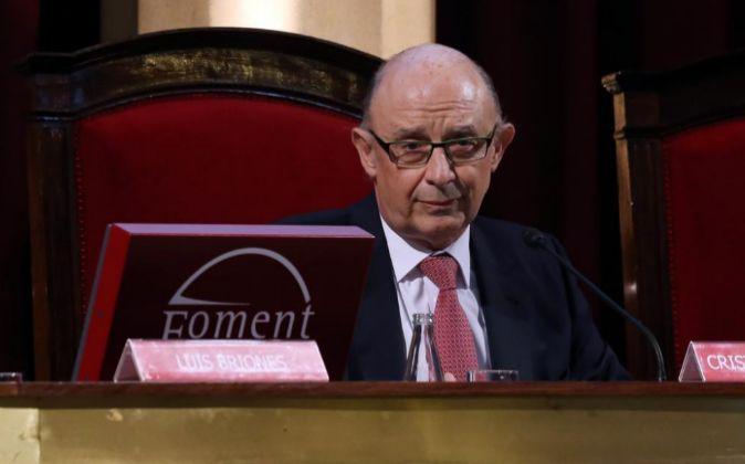 Cristóbal Montoro, ministro en funciones de Hacienda.
