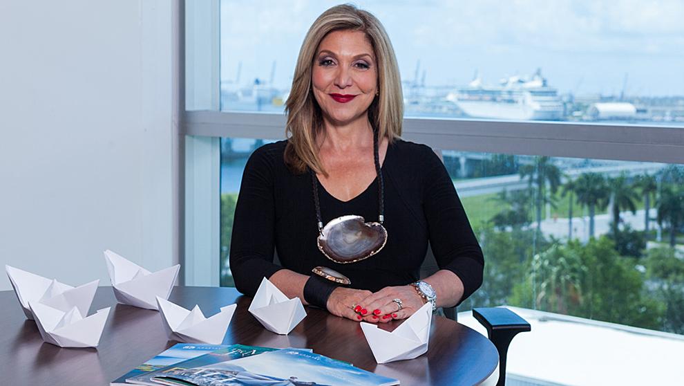 Edie Rodríguez, CEO de Crystal Cruises, en sus oficinas de Miami.