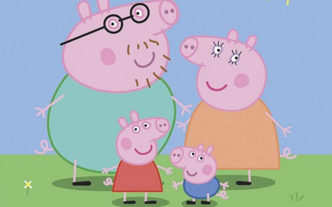 La familia Peppa Pig.