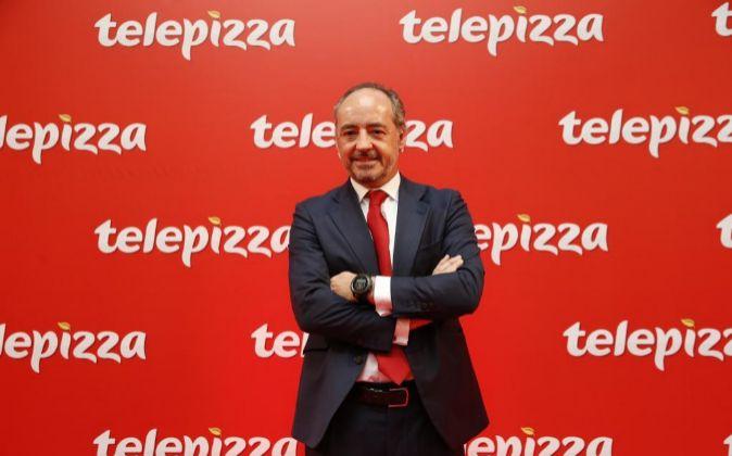 Pablo Juantegui, presidente de Telepizza, en la salida a Bolsa de la...