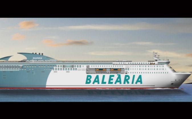 Recreación del nuevo barco que LaNaval construirá para Baleària.