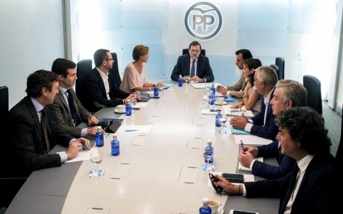 Reunión del Comité de Dirección del Partido Popular.