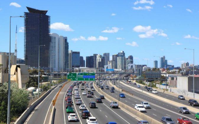 Autopista M1 de Melbourne (Australia).