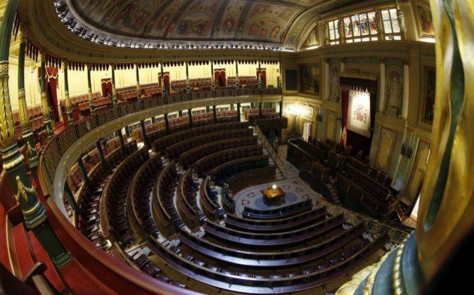 Vista general del hemíciclo del Congreso de los Diputados.