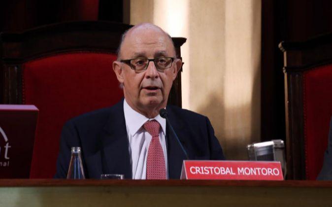 El ministro de Hacienda, Cristóbal Montoro, en una foto de archivo.
