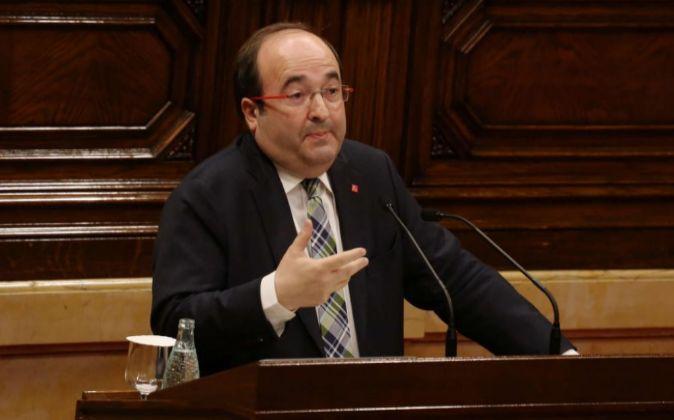 Miquel Iceta, en el pleno del Parlament.