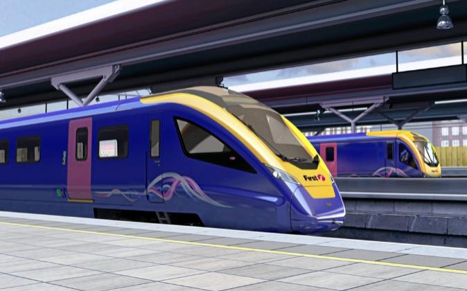En la imagen, un tren de CAF.