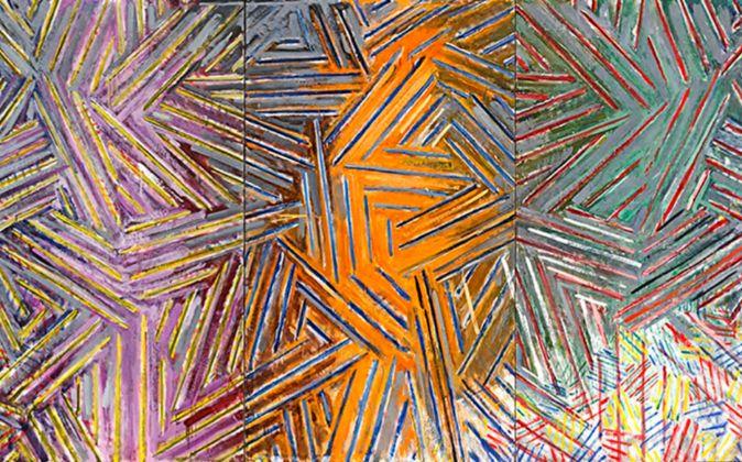 'Entre el reloj de pared y la cama', 1981, de Jasper Johns.