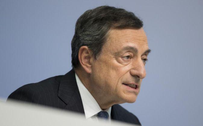 El presidente del BCE, Mario Draghi, en una comparecencia.