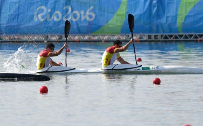 Craviotto y Toro durante una prueba en los Juegos de Río de Janeiro.