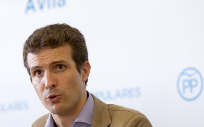 El vicesecretario de Comunicación del PP y diputado por Ávila, Pablo...