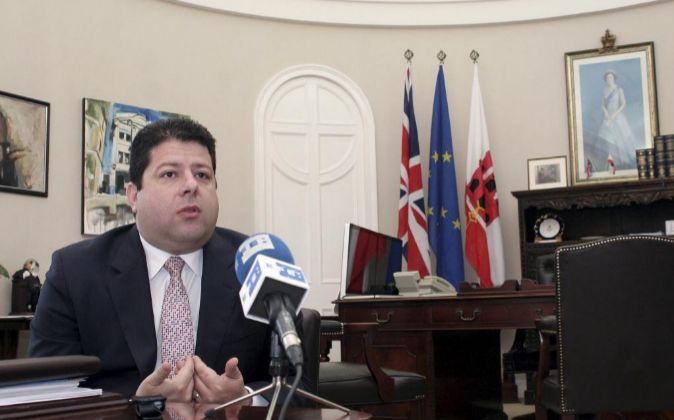 El ministro principal de Gibraltar, Fabian Picardo.
