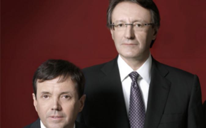 Los hermanos Ramón e Higini Cierco.