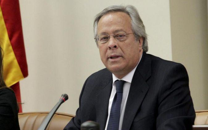 Ramón Aguirre, presidente de la Sociedad Estatal de Participaciones...