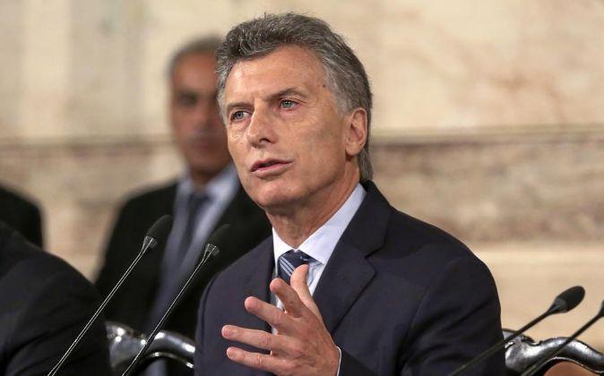 Mauricio Macri, presidente de Argentina.
