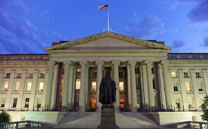 Edificio del Tesoro de EE.UU. en Washington.