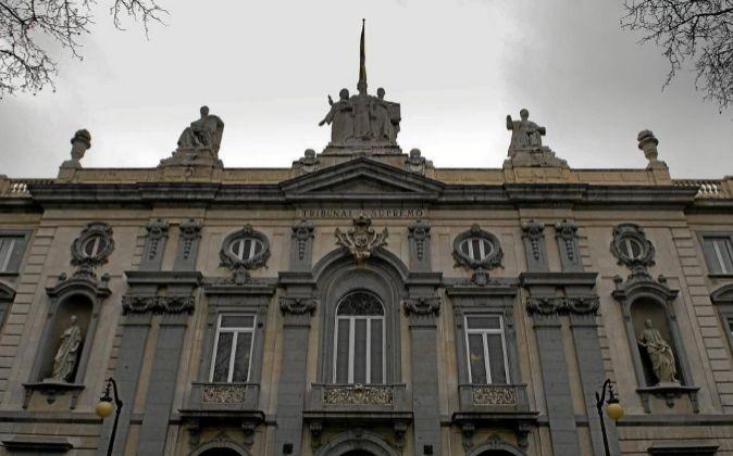 Fachada principal del Tribunal Supremo en Madrid.