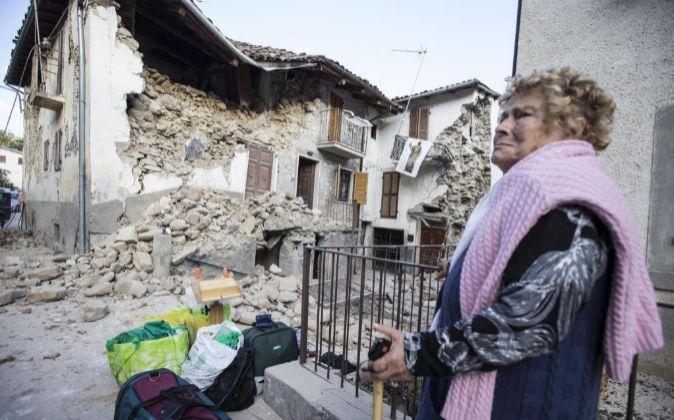 Accumoli es una de las localidades más afectadas por el seísmo.