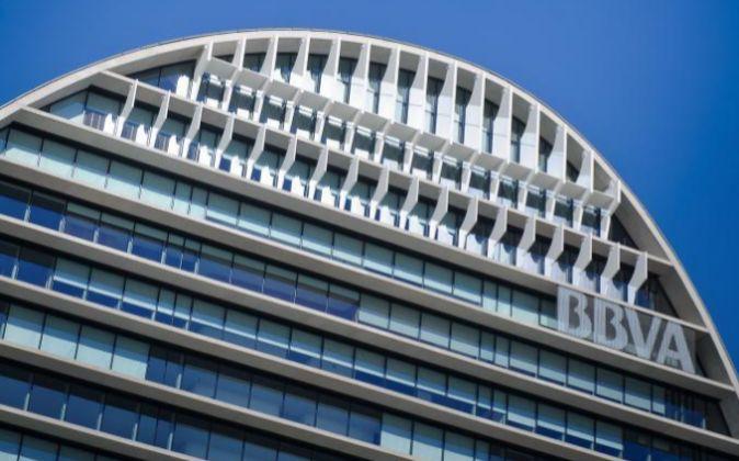 Edificio Vela, sede de BBVA en Madrid.