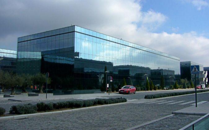 Vista del parque empresarial La Finca en Madrid.