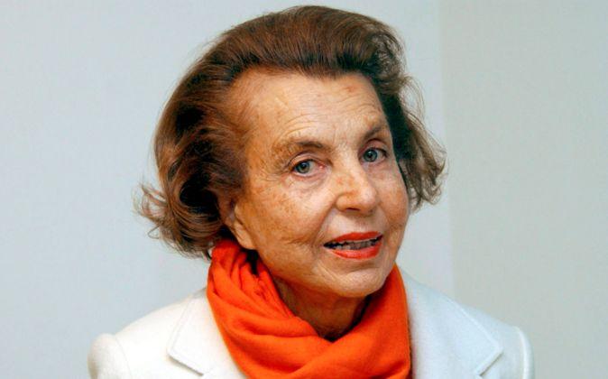 Liliane Bettencourt, matriarca de la familia principal accionista de...