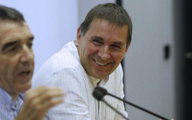 El candidato a lehendakari de EH Bildu Arnaldo Otegi.