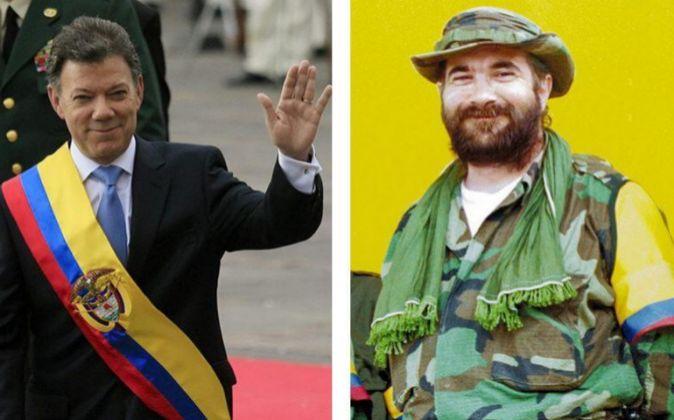 Combo de fotografías que muestra al máximo líder de las FARC,...