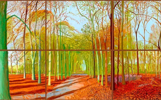 'Woldgate woods', creada por Hockney el 21, 23 y 29 de...