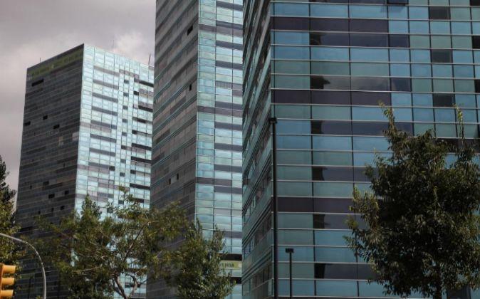 Varios edificios de viviendas en Barcelona.