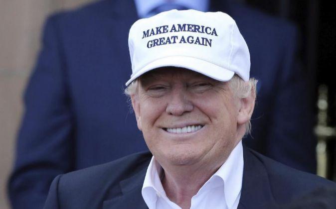 Donald Trump, candidato republicano a la presidencia de Estados...