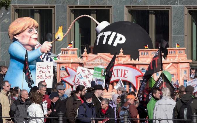 Manifestación en Berlín contra el TTIP.
