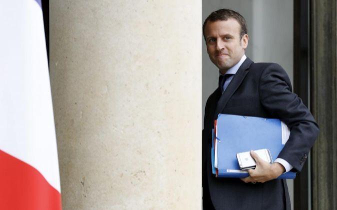 El ministro francés de Economía, Emmanuel Macron, en una imagen de...