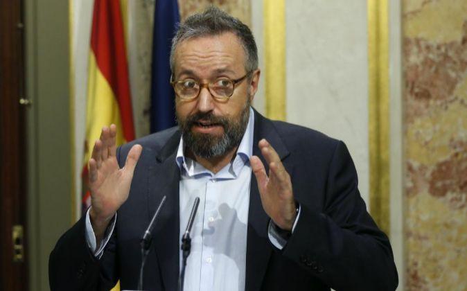 El portavoz de Ciudadanos en el Congreso, Juan Carlos Girauta, durante...