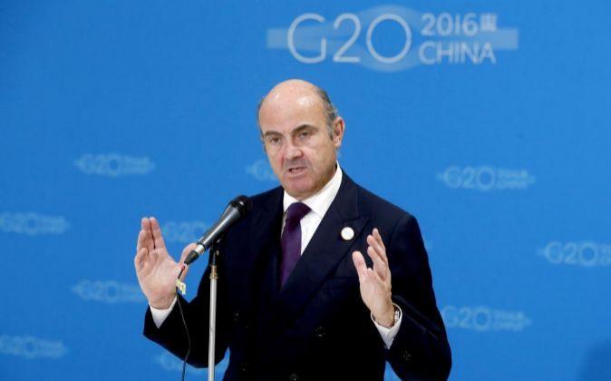 El ministro español de Economía en funciones Luis de Guindos.
