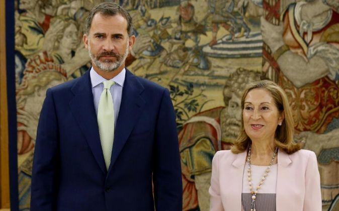 El Rey Felipe VI, recibe en audiencia a la presidenta del Congreso de...
