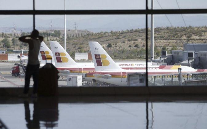 Vista general del aeropuerto Adolfo Suárez Madrid-Barajas, gestionado...