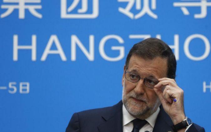 El presidente del Gobierno español en funciones, Mariano Rajoy.