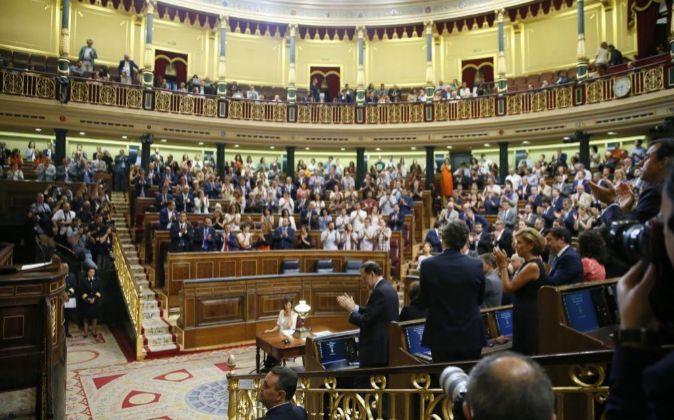 El Congreso de los Diputados durante el debate de investidura.