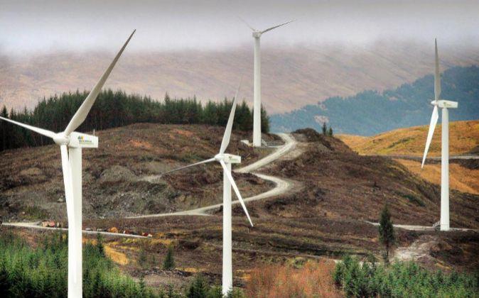 Imagen del complejo eólico de Iberdrola en Cruach Mhor (Escocia)