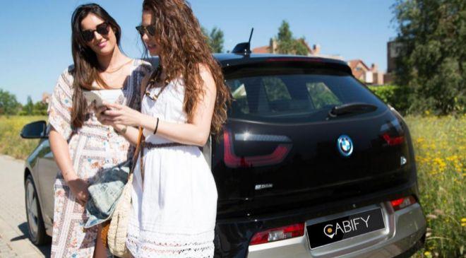 Imagen del nuevo BMW i3 eléctrico que ha incorporado Cabify a su...